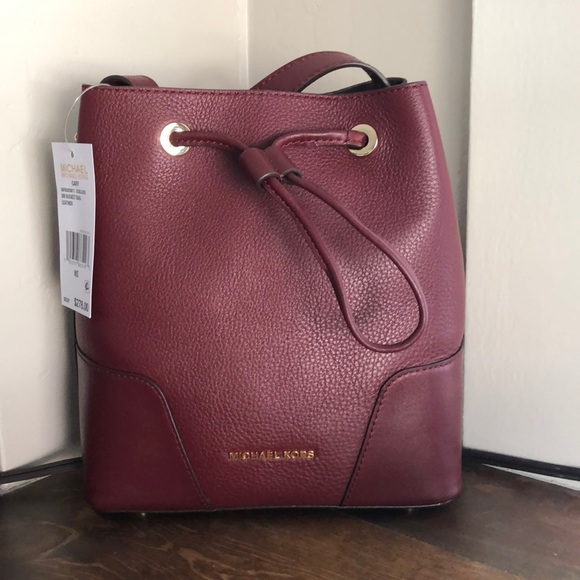 85021a155ef5be MICHAEL Michael Kors Bags | Michael Kors Cary Small Oxblood Leather ...
